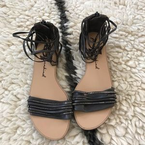 Leather 7 FOR ALL MANKIND sandals